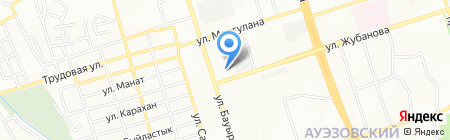 Дамдес на карте Алматы