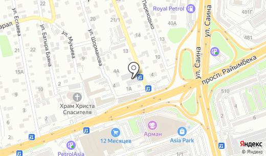 Deniza Profit. Схема проезда в Алматы
