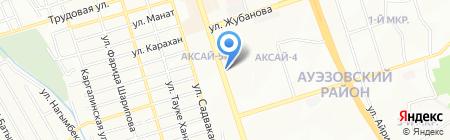 Верхний Таинты на карте Алматы