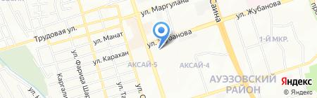Нотариус Абсеит Г.Ж. на карте Алматы
