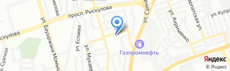 Казах жип на карте Алматы