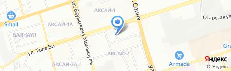 Овощной магазин на ул. Аксай 2-й микрорайон на карте Алматы