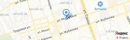 Нотариус Нуринбетов Б.И. на карте Алматы