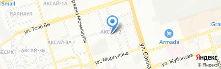 Ясли-сад №50 на карте Алматы