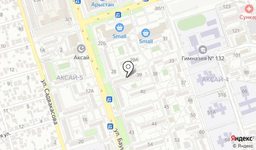 Даяна. Схема проезда в Алматы