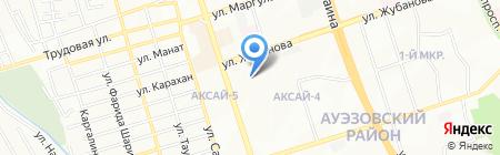 Мастерская по ремонту обуви и изготовлению ключей на ул. Аксай 4-й микрорайон на карте Алматы