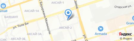 Аяжан на карте Алматы