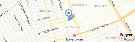 Куралай на карте Алматы