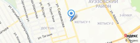 Эмират на карте Алматы