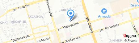 Общеобразовательная школа №121 на карте Алматы