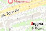 Схема проезда до компании Center.Com.Ltd в Алматы