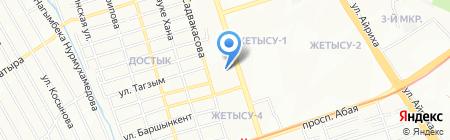 УПК-ДЭУ на карте Алматы