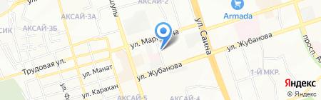 Алатау на карте Алматы