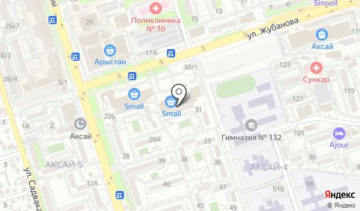 ALSER. Схема проезда в Алматы