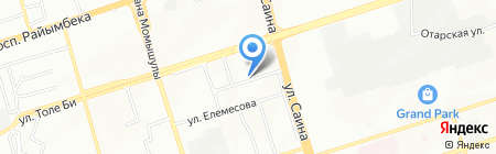 Бурабай на карте Алматы