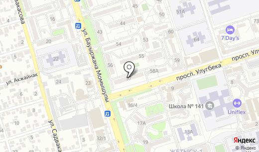 Изюм продуктовый магазин. Схема проезда в Алматы