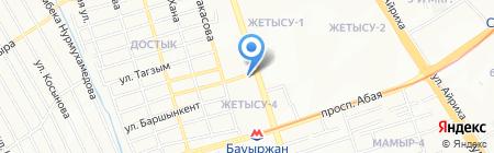 Мастерская по ремонту обуви на ул. Жетысу 4-й микрорайон на карте Алматы