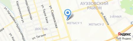 Джамиля на карте Алматы