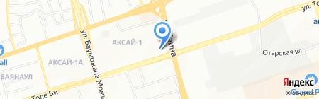 Калибри на карте Алматы