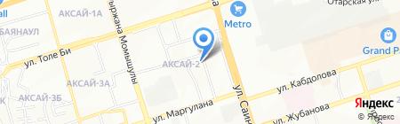 Хан Тенгри на карте Алматы