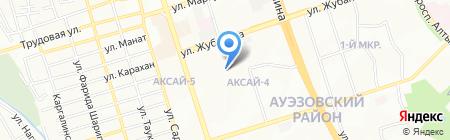 Ак-Бидай на карте Алматы