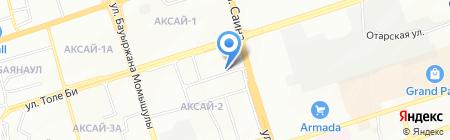 Булт на карте Алматы