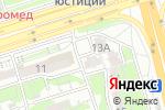 Схема проезда до компании У Аллы в Алматы