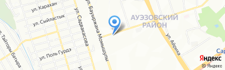 Автостоянка на карте Алматы