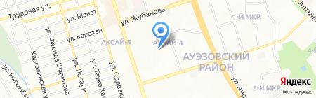 Альфа и Омега на карте Алматы
