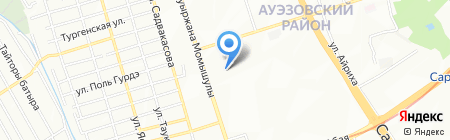 Дос Сервис Логистика на карте Алматы
