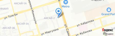 Абылай продуктовый магазин на карте Алматы