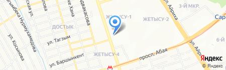 Жетысу на карте Алматы