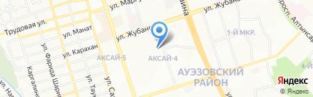 Гимназия №132 на карте Алматы