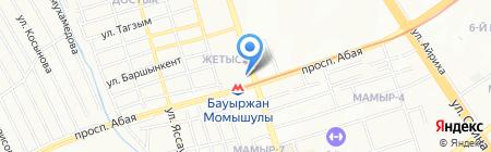 Нур-Нур на карте Алматы