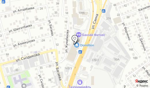CityCom. Схема проезда в Алматы