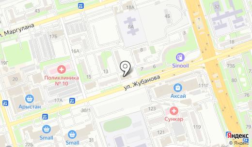 Куаныш. Схема проезда в Алматы