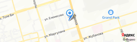 Ясли-сад №129 на карте Алматы