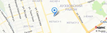 Лязат на карте Алматы