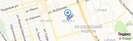 Ясли-сад №100 на карте Алматы
