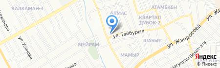 Бахыт на карте Алматы