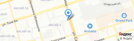 Аманат Секьюрити Компани на карте Алматы