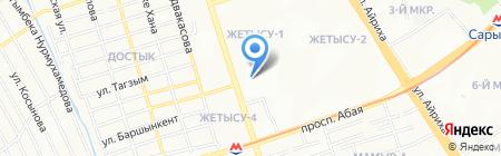Казпрофклининг на карте Алматы