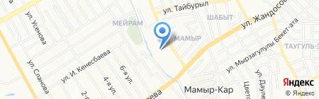 Халык такси на карте Алматы