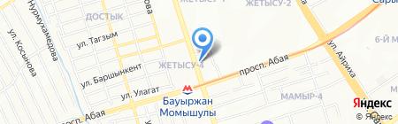 Сункар Трэвел на карте Алматы