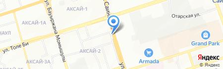 Цветочный магазин на ул. Аксай 2-й микрорайон на карте Алматы