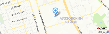 Ясли-сад №57 на карте Алматы