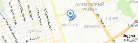 Ясли-сад №60 на карте Алматы