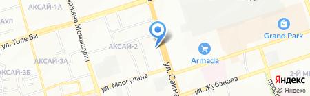 Мастерская по ремонту обуви на ул. Аксай 2-й микрорайон на карте Алматы