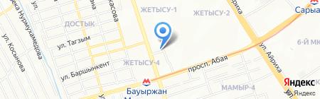 Айжан продуктовый магазин на карте Алматы