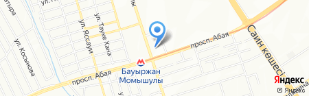 Алмасат на карте Алматы